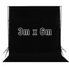 Black 3m x 6m Cotton Muslin Studio Backdrop