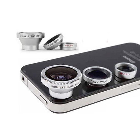 Hypop Universal Smartphone Attachable Camera Lens Mount Set (Fish Eye,Wide Angle & Macro Included)