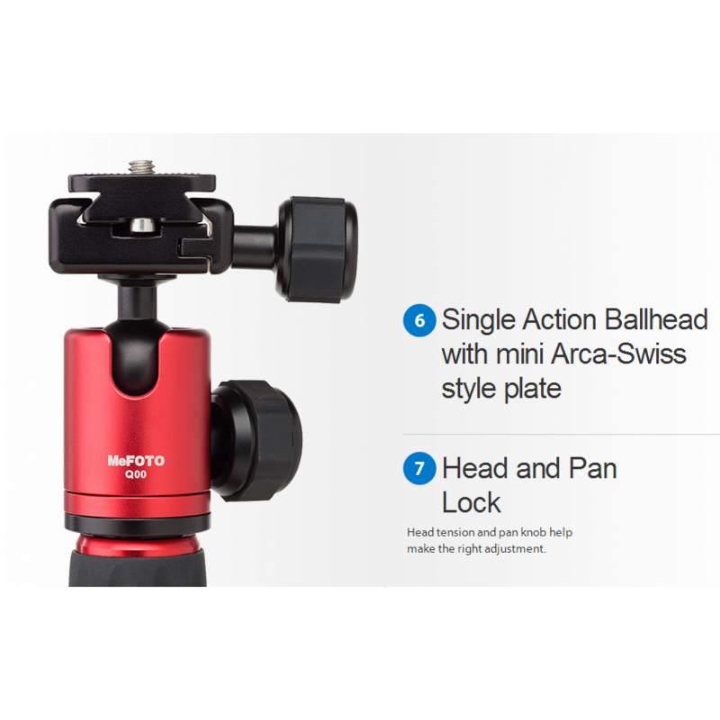 MeFOTO DayTrip Mini Tripod - Red