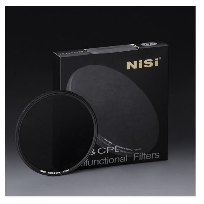 NiSi 77mm ND 0.9 Neutral Density 3 Stop & Circular Polarising Filter
