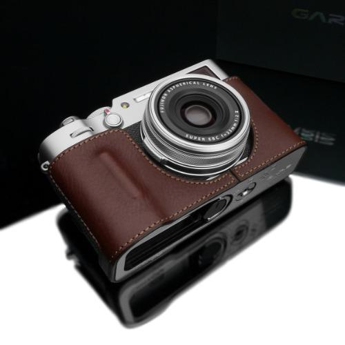 Gariz HG-X100VBR Brown Leather Camera Half Case for Fujifilm X100V