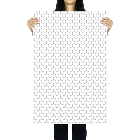 Flat Lay Instagram Backdrop - 'Bondi' White Honeycomb Tiles (56cm x 87cm)