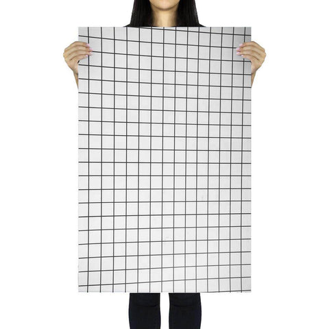 Flat Lay Instagram Backdrop - White 'Glebe' Minimal Grid (56cm x 87cm)