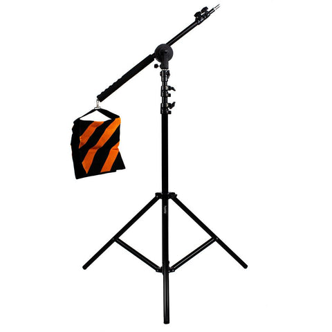 Hypop Lighting and Audio Boom Arm Set With Heavy Duty Light Stand