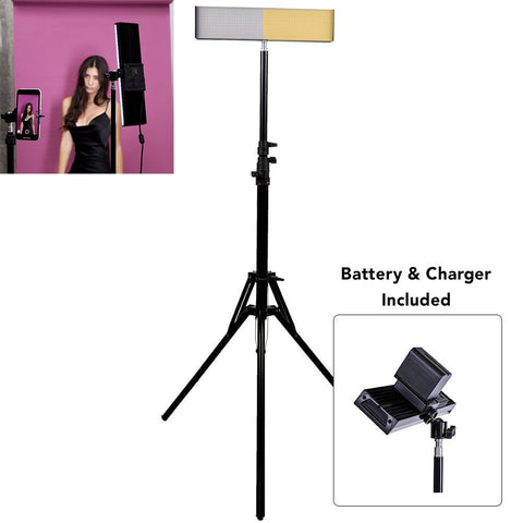 "9"" LED Photography Video DIY Studio Lighting Kit - Crystal Luxe (No Battery And Charger)"