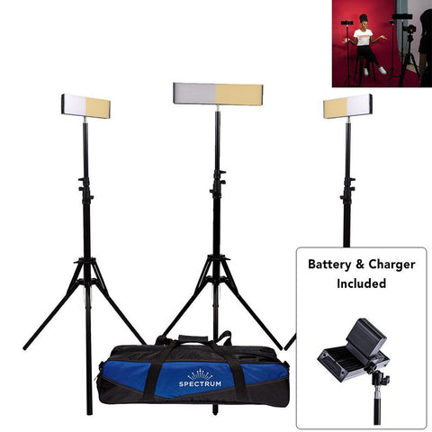 LED Youtube Photography Video DIY Lighting Kit - Crystal Luxe 'TRIO'