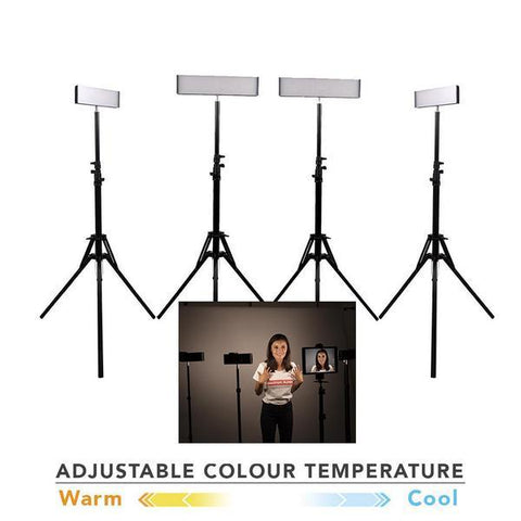 LED light Youtube Video Home Lighting Kit - 'QUAD' Crystal Luxe