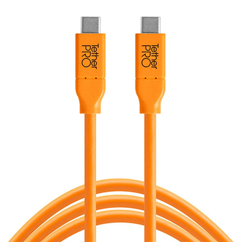 TetherPro USB-C to USB-C 180cm Hi-Vis Orange
