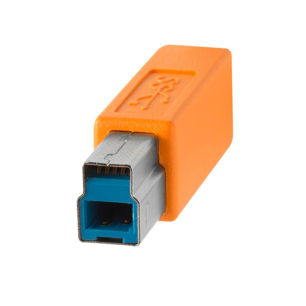 TetherPro USB 3.0 Male A to Male B 4.6m Hi-Vis Orange