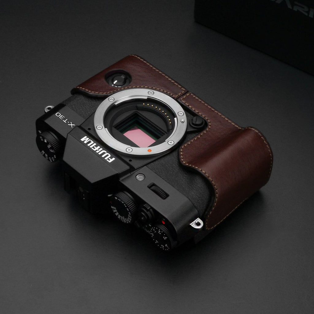 Gariz Brown Leather Camera Half Case XS-CHXT30BR for Fuji Fujifilm X-T10 X-T20 X-T30
