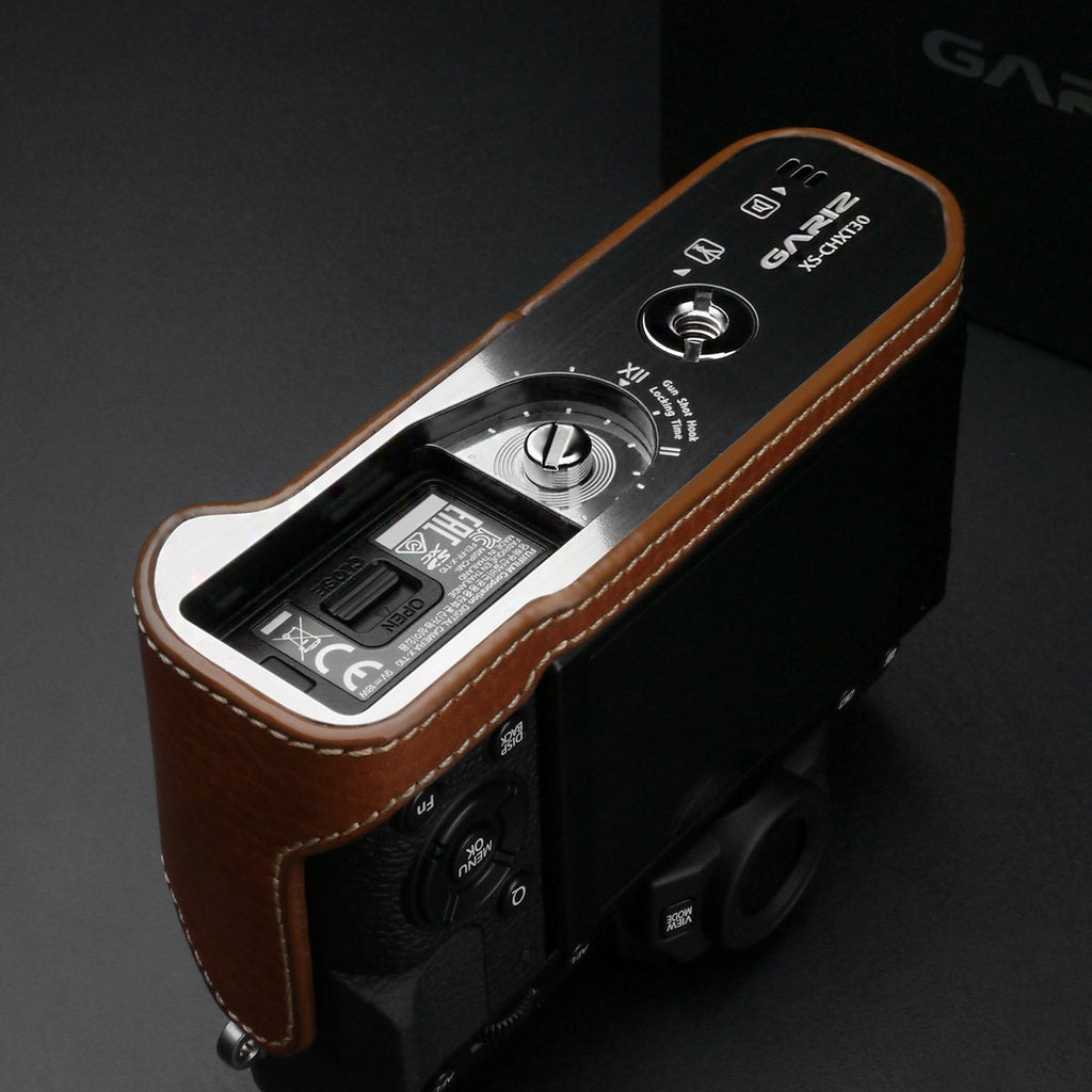 Gariz Camel Leather Camera Half Case XS-CHXT30CM for Fuji Fujifilm X-T10 X-T20 X-T30