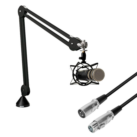 Add-On Procaster Microphone Kit (Rode Procaster, Studio Boom Arm, 3m XLR Cable)