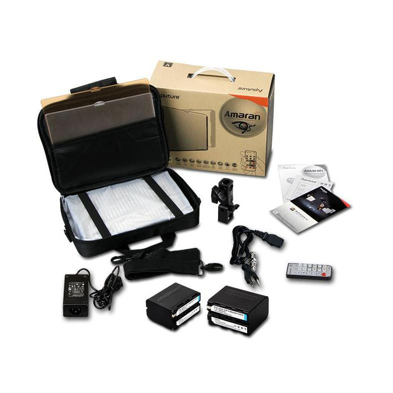 Aputure 4x HR672W LED Video Continuous Portable Lighting Kit and Boom (From 7680 lumens at 1m)