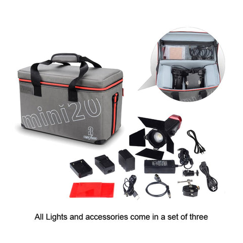 Aputure LS-mini20 TLCI/CRI 97 Fresnel LED 3 Light (DDC) Kit