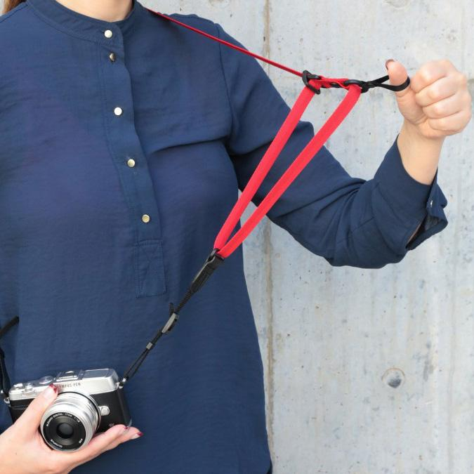 Artisan & Artist ACAM-E20 Nylon Camera Strap (RED)