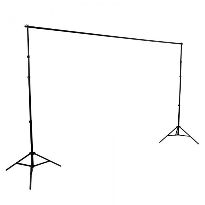 Hypop Professional LED Photo Video Continuous Portable Lighting Boom Kit & Backdrop Set (Large)
