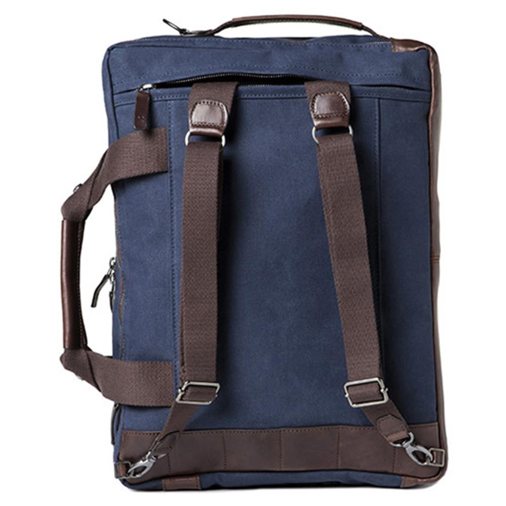 "Barber Shop ""Undercut"" Convertible Camera Bag (Canvas & Leather, Blue & Dark Brown)"