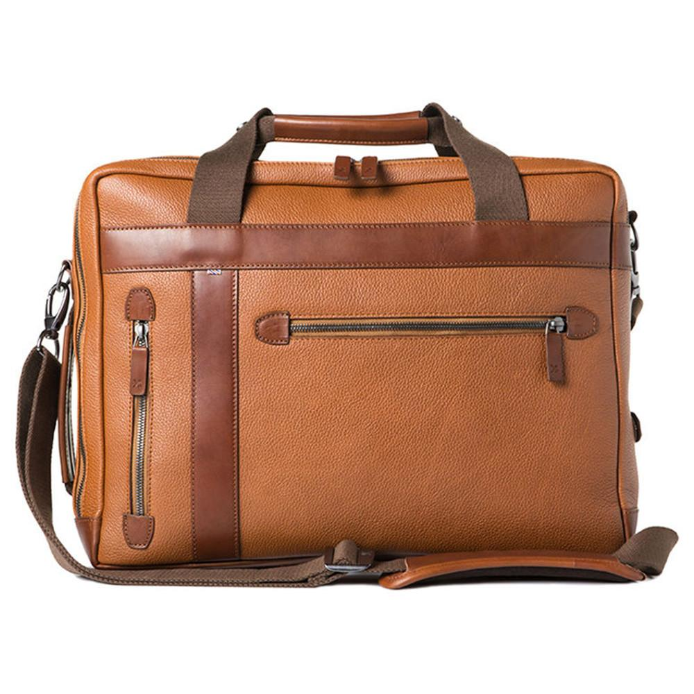 "Barber Shop ""Undercut"" Convertible Camera Bag (Grained Leather, Brown)"