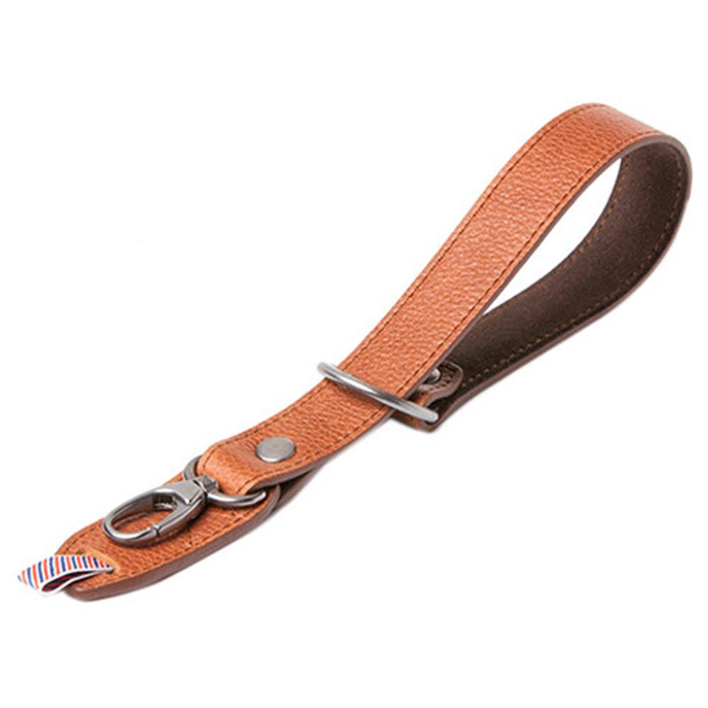 "Barber Shop ""Razor Cut"" Camera Wrist Strap (Grained Brown Leather)"