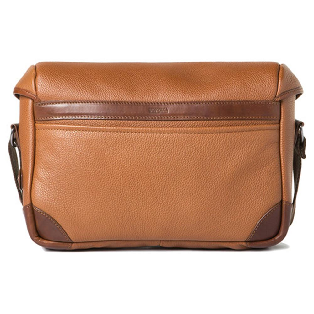 "Barber Shop Small Messenger ""Pageboy"" Camera Bag (Grained Leather, Brown)"