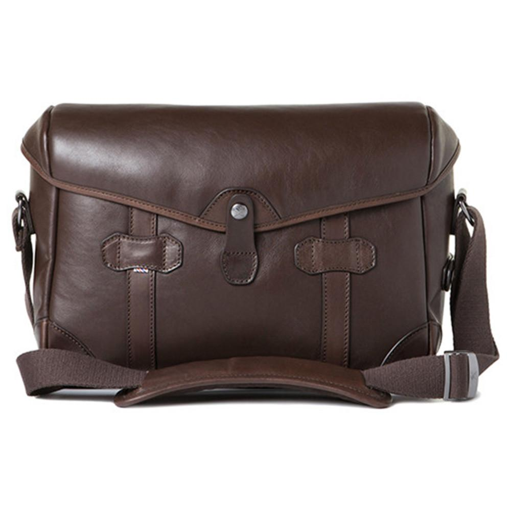 "Barber Shop Small Messenger ""Pageboy"" Camera Bag (Smooth Leather, Dark Brown)"