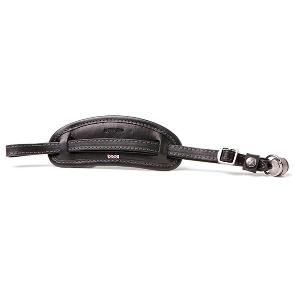 "Barber Shop ""Tight Contour"" Camera Hand Strap (Smooth Black Leather)"