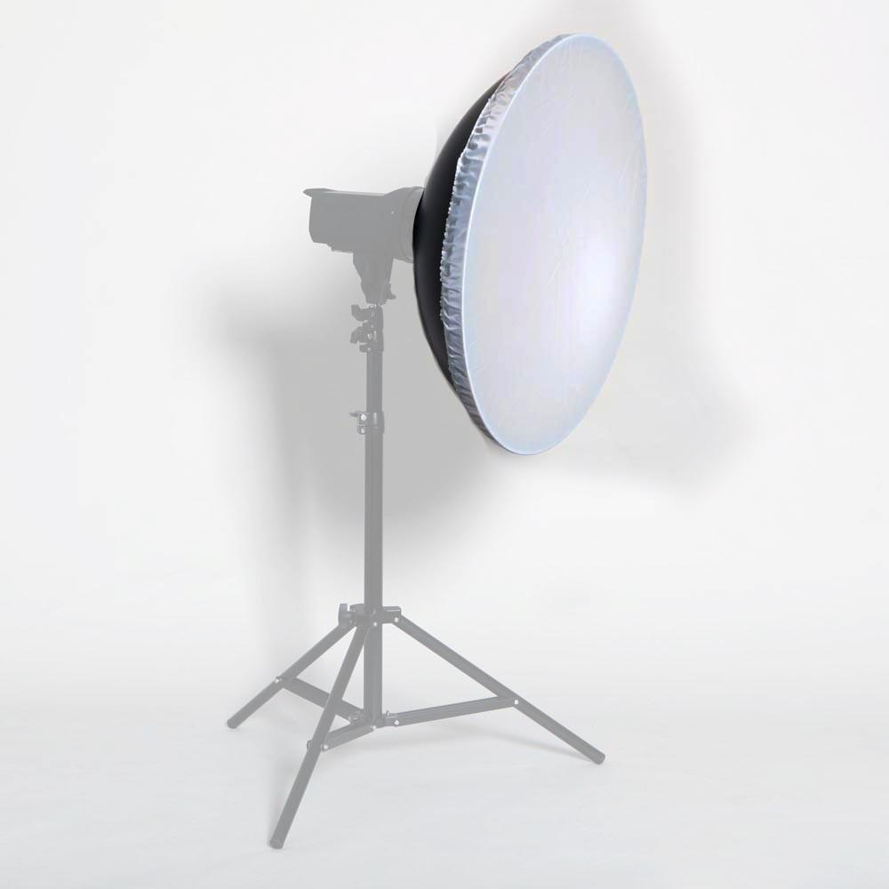 "Hypop 22""/55CM Universal Silver Reflector Beauty Dish With Diffuser for Flash Strobes"