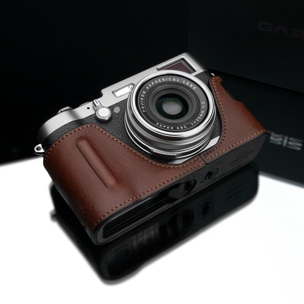 Gariz Brown Leather Camera BL-X100BR for Fuji Fujifilm X100 X100S