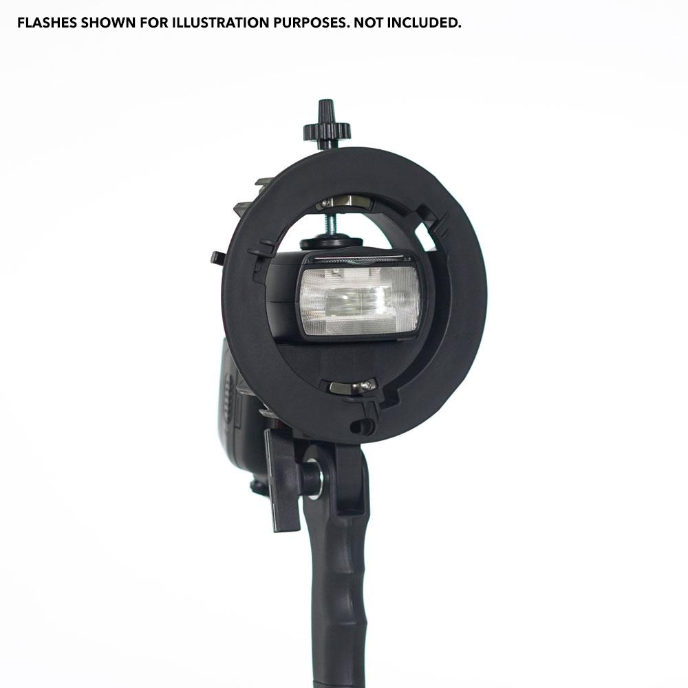 Bowens S-Bracket PRO Flash Speedlite Bracket Mount Holder