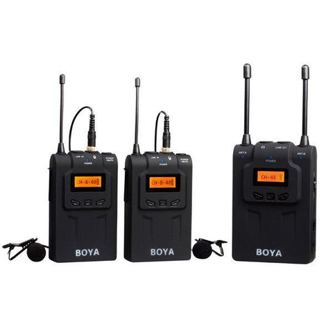 Boya BY-WM8 Dual Channel UHF Wireless Microphone System