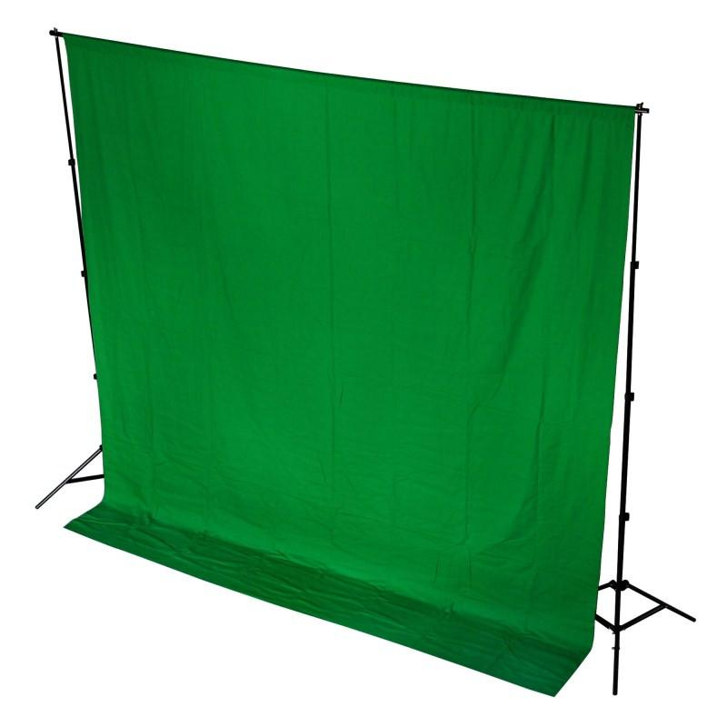 WI: 1 x Chroma Key Green Screen 3M x 6M Cotton Muslin Backdrop