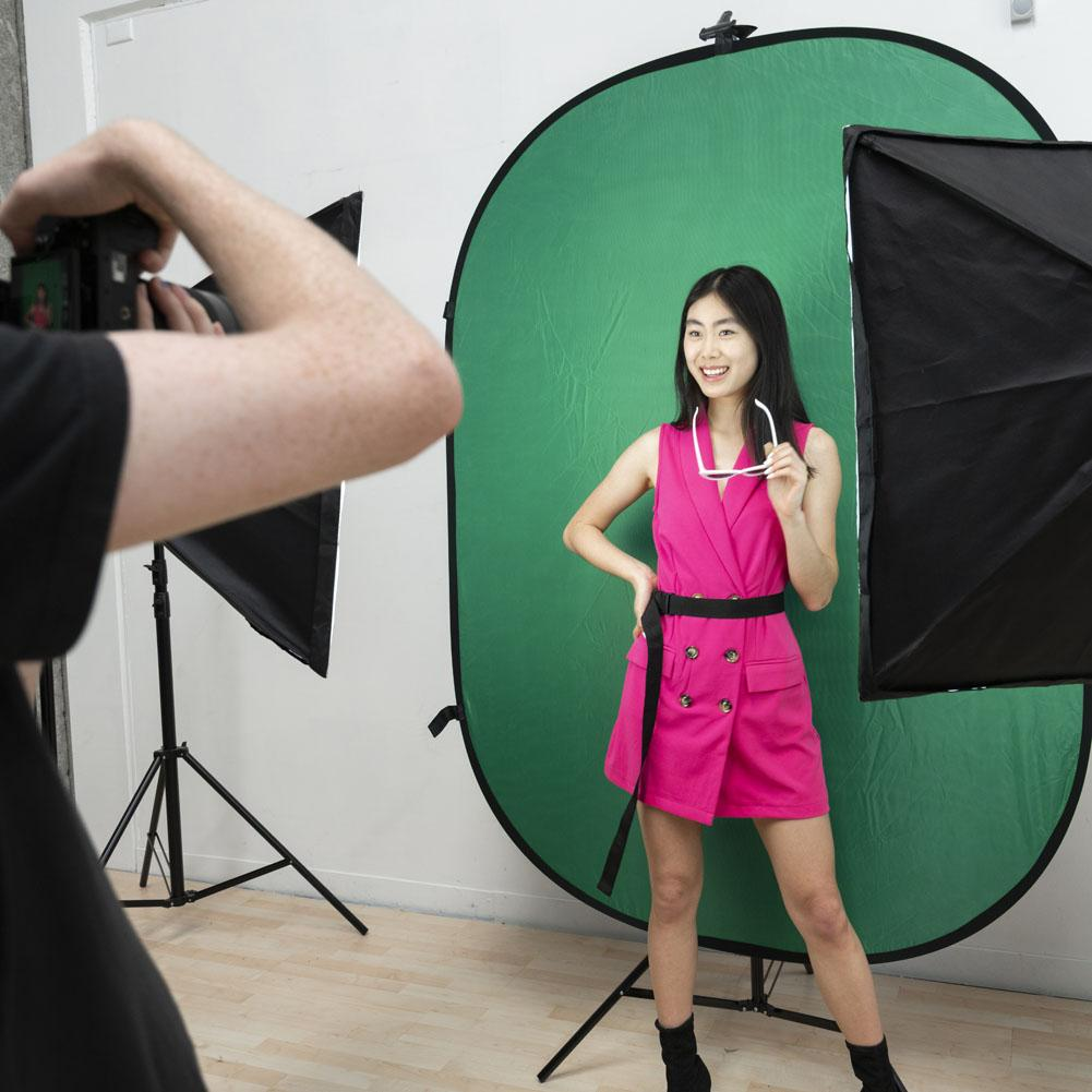 Digital Media Green Screen Kit With Pop Up Backdrop & Double 'Illuminate Mate' Softbox