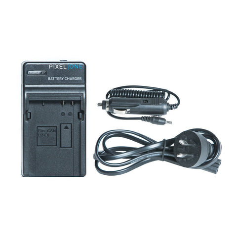 Pixel One LC-E6 Charger for Canon LP-E6/LP-E6N Battery Canon EOS 5D Mark II III 6D 70D