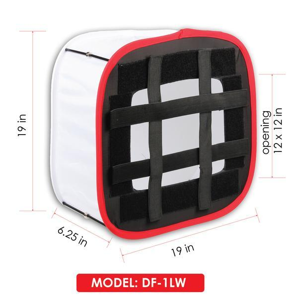 "D-Fuse Collapsable White Softbox for LED Light Panels DF-1LW (12""x12"")"