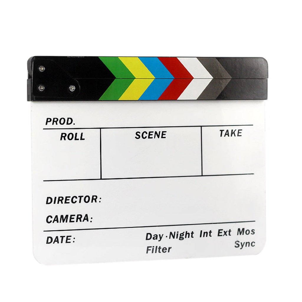 Director's Acrylic Production Slate Clapper Clap Board