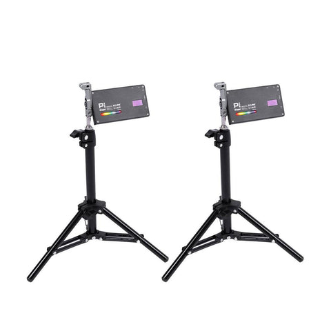 Dual Boling BL-P1 Desktop Video Setup with RGB Light and Desk Stand