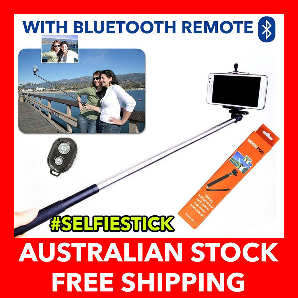 Universal Monopod Extendable Selfie Stick with Bluetooth Shutter Remote Control exclude