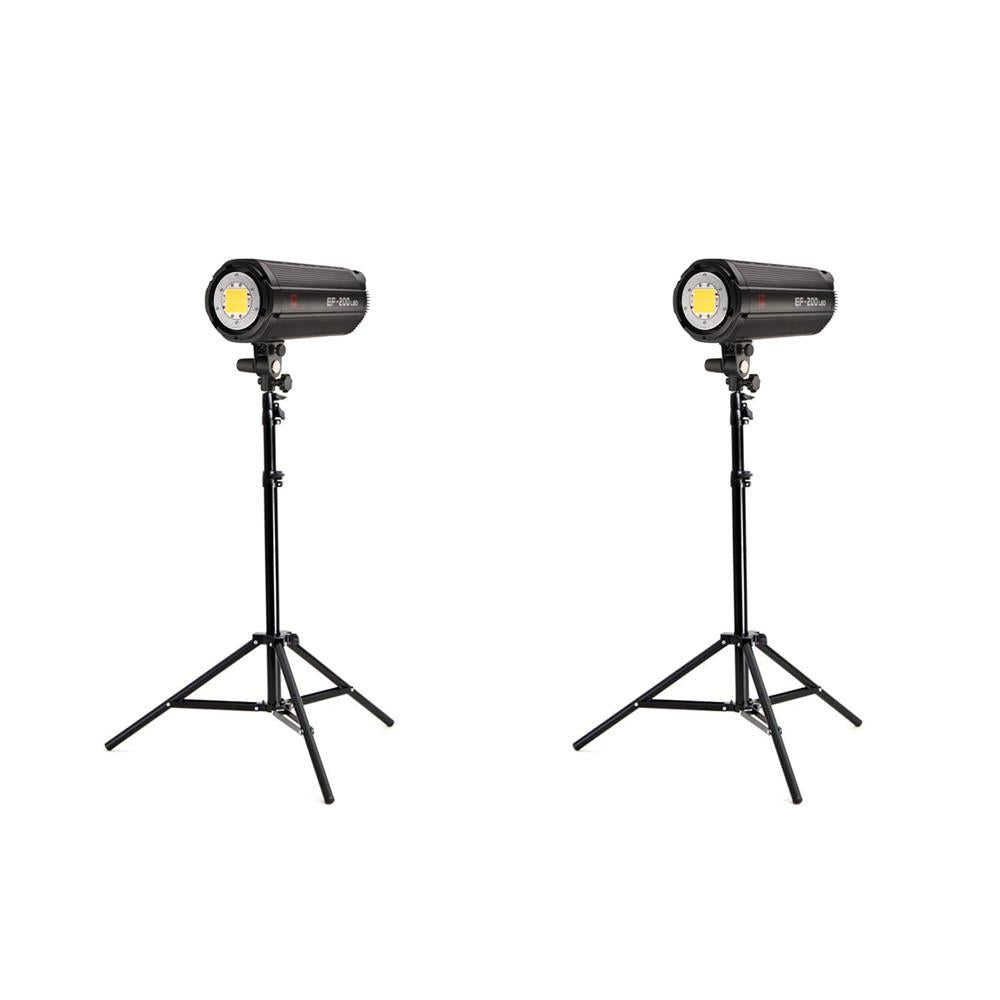 Jinbei 2 x EF200 V (400W) Continuous LED Photo & Video Lighting Kit exclude
