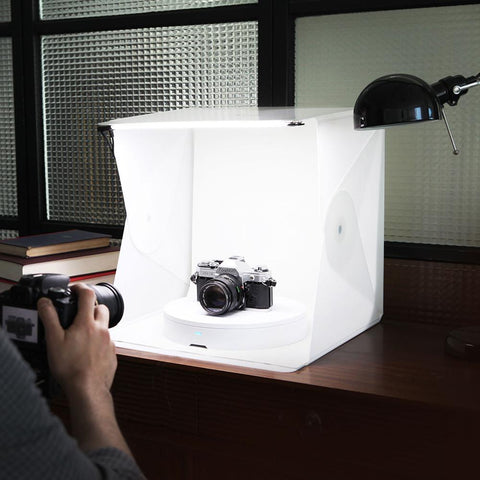 Foldio All-in-One Photography Studio Set (Includes Foldio2, Foldio 360, LED Lights and 4 Backdrops) exclude
