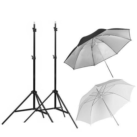 Hypop Standard Off Camera Flash (OCF) Double Umbrella with tilt mount Kit for Speedlites (Speedlite Excluded)