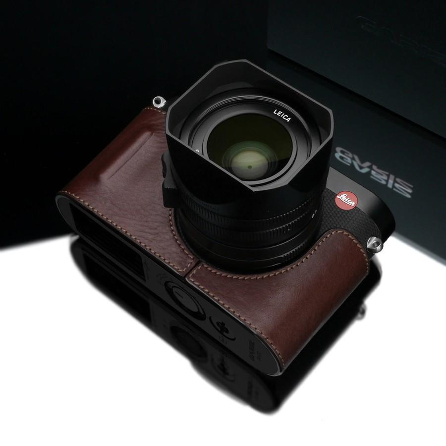 Gariz Brown Leather Camera Half Case BL-LCQBR for Leica Q