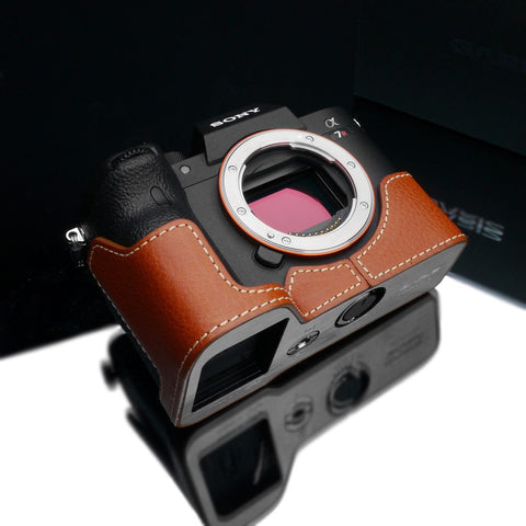 Gariz Camel XS-CHA7RM4CM Genuine Leather Half Case for Sony A7RIV
