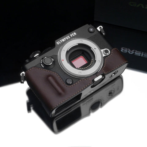 Gariz Black Leather Camera Half Case XS-CHA6000BK for Sony A6000