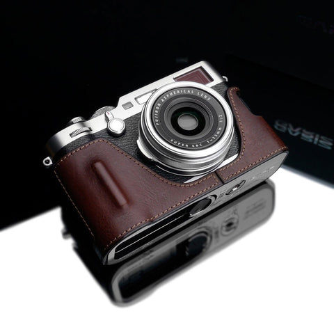 Gariz HG-X100FBR Brown Leather Camera Half Case for Fujifilm Fuji X100F