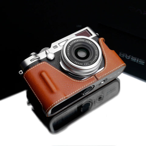 Gariz XS-CHXT4BK Black Leather Camera Half Case for Fujifilm X-T4
