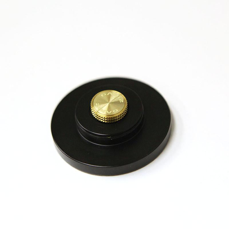 Gariz Screw type Soft Button Gold XA-SB3S for Sony RX1 (Black Ring)