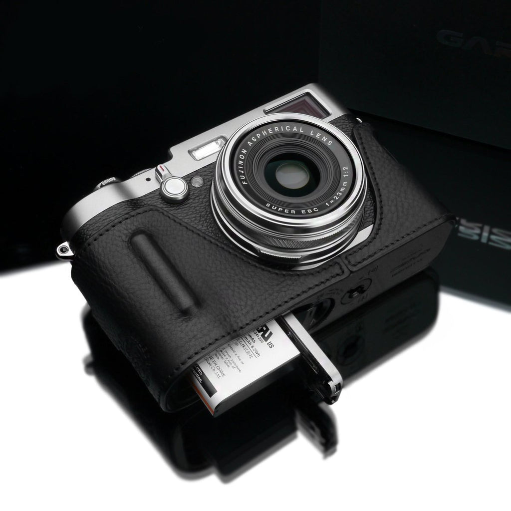 Gariz Black Leather Camera Half Case BL-X100BK for Fuji X100/X100S/X100T