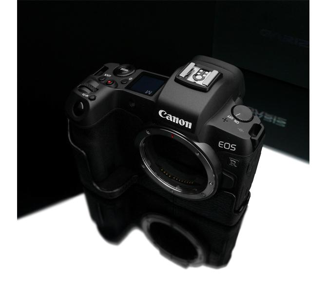 Gariz XS-CHEOSRBK Black Leather Camera Half Case for Canon EOS R