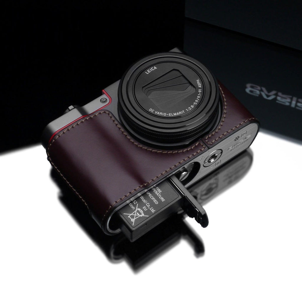 Gariz XS-CHZS110BR Leather Camera Half Case Brown for Panasonic Lumix ZS110 exclude
