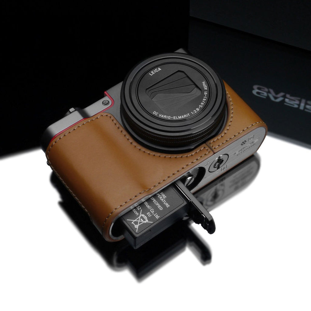 DISCONTINUED CASE - Gariz XS-CHZS110LB Leather Camera Half Case Light Brown for Panasonic Lumix ZS110
